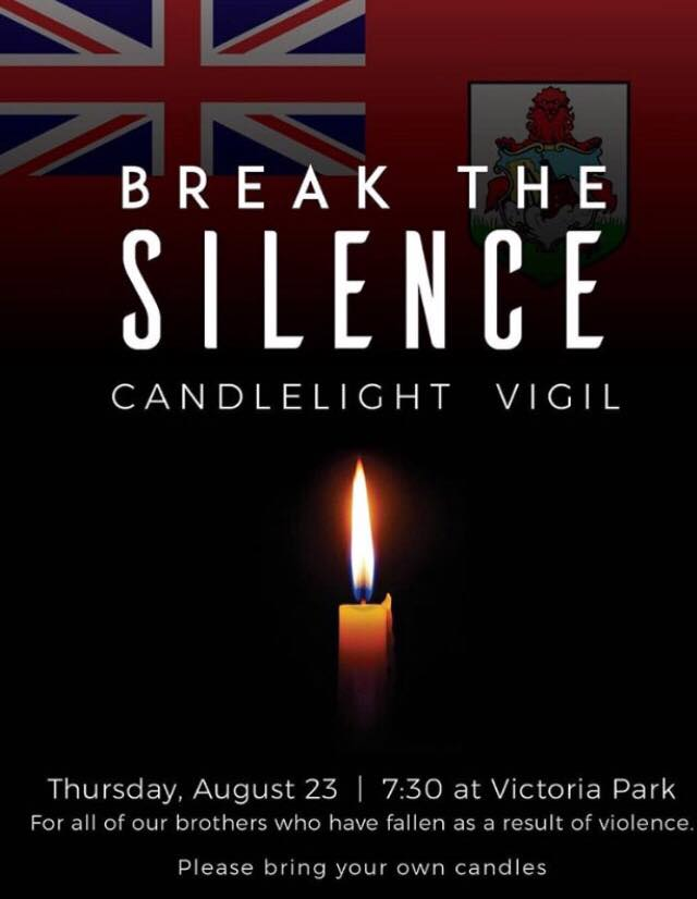 Break the Silence Candlelight Vigil Bermuda August 22 2018