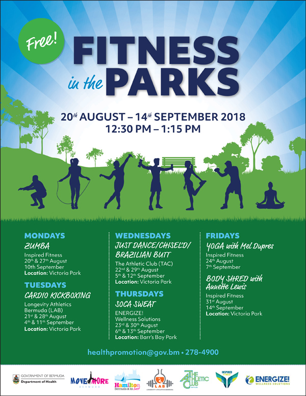 Fitness in the Park Bermuda August 2018
