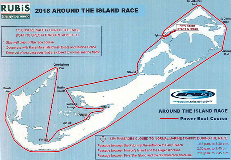 RTI Route Map Bermuda August 2018