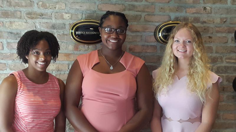 Zantae Dill, Candace Paynter and Amelia Oatley Bermuda August 2018