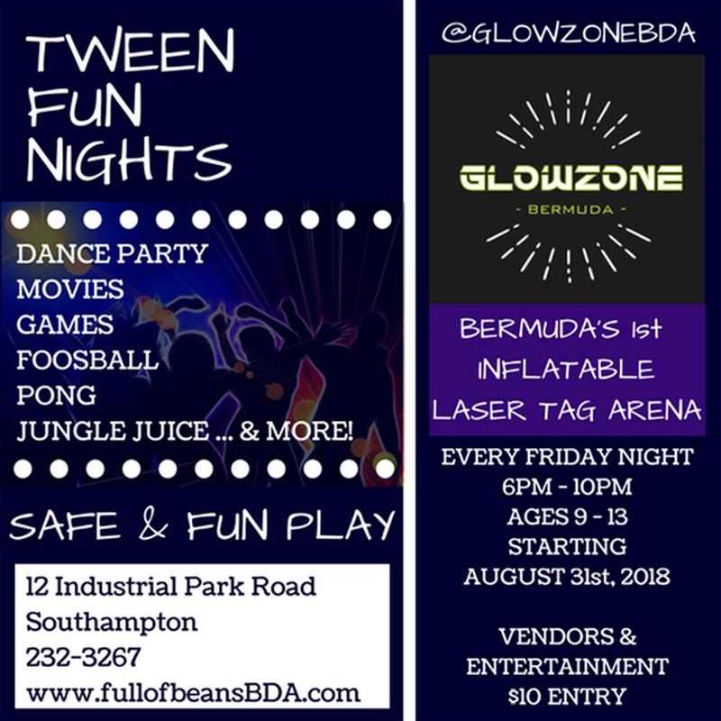 tween fun nights Bermuda August 30 2018