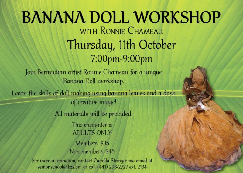 Banana Doll Workshop Bermuda Sept 2018