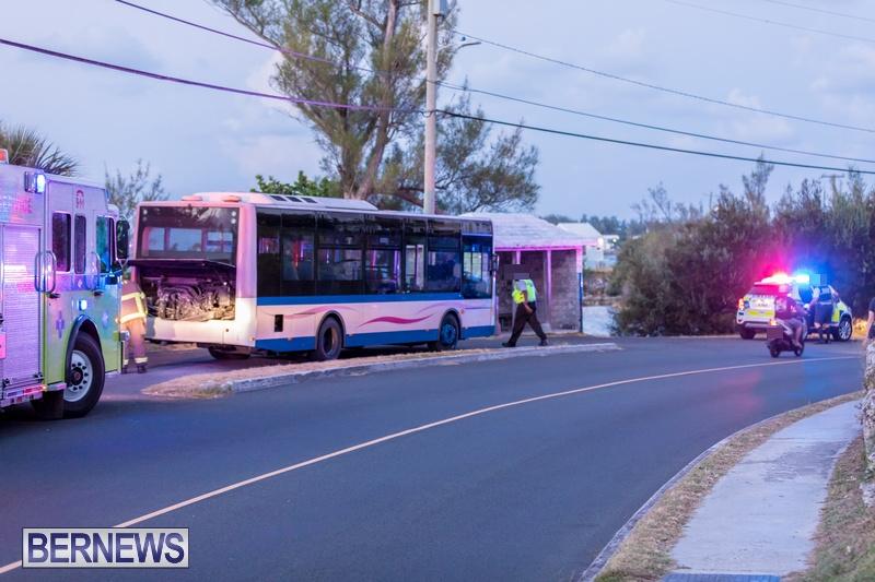 Bus Engine Fire Bermuda, September 3 2018