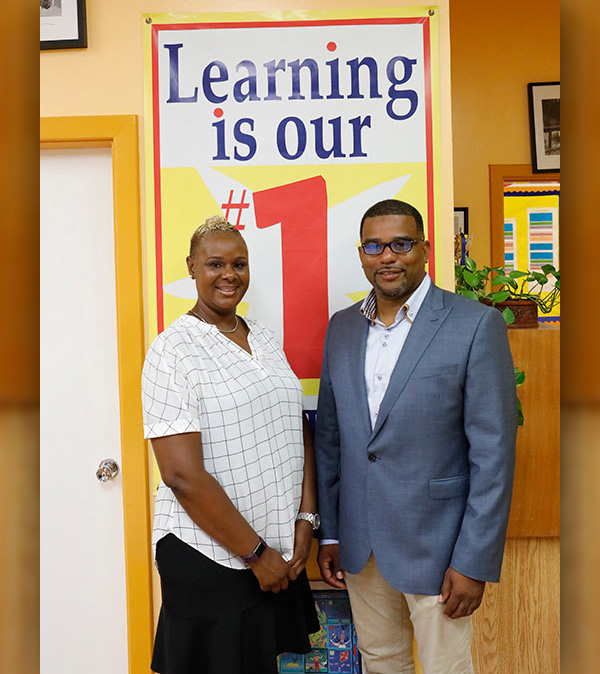 Minister Diallo Rabain and Kennelyn Smith Bermuda Sept 10 2018