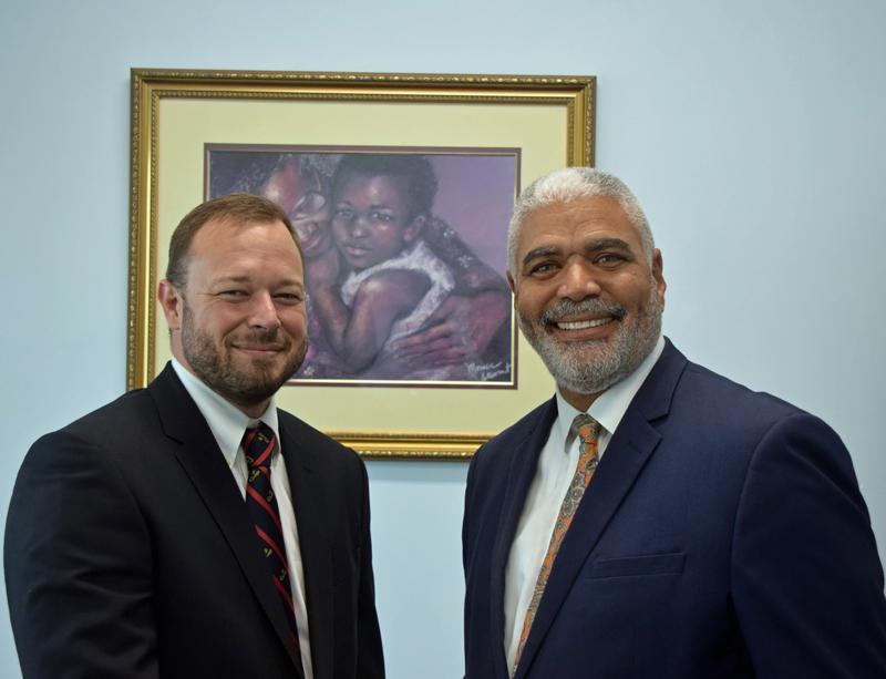 Nick Kempe and Craig Cannonier Bermuda Sept 2018