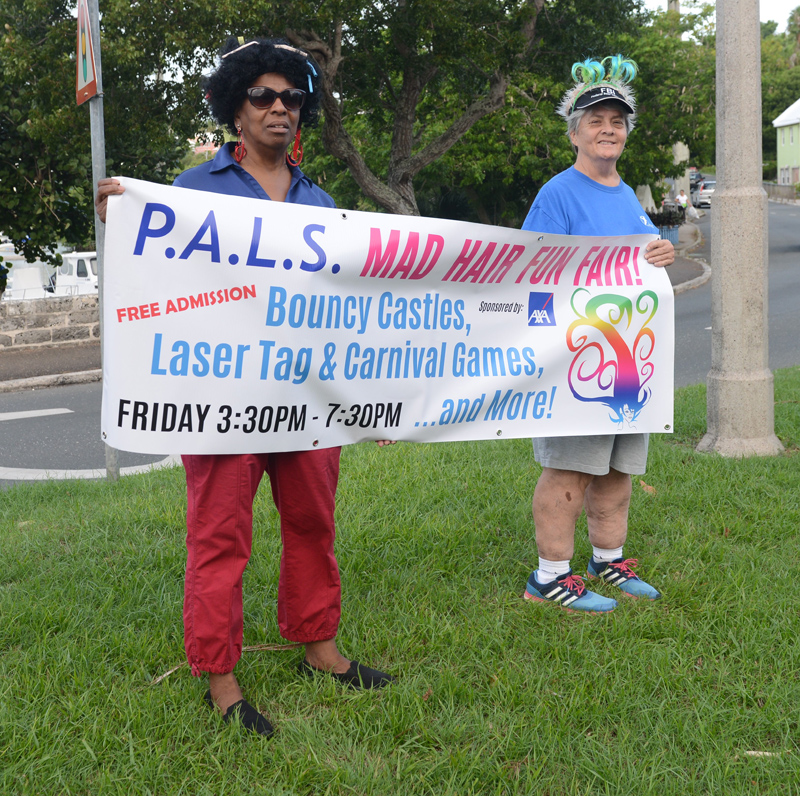 PALS Mad Hair Day Crow Lane Roundabout Bermuda Sept 2018 (2)