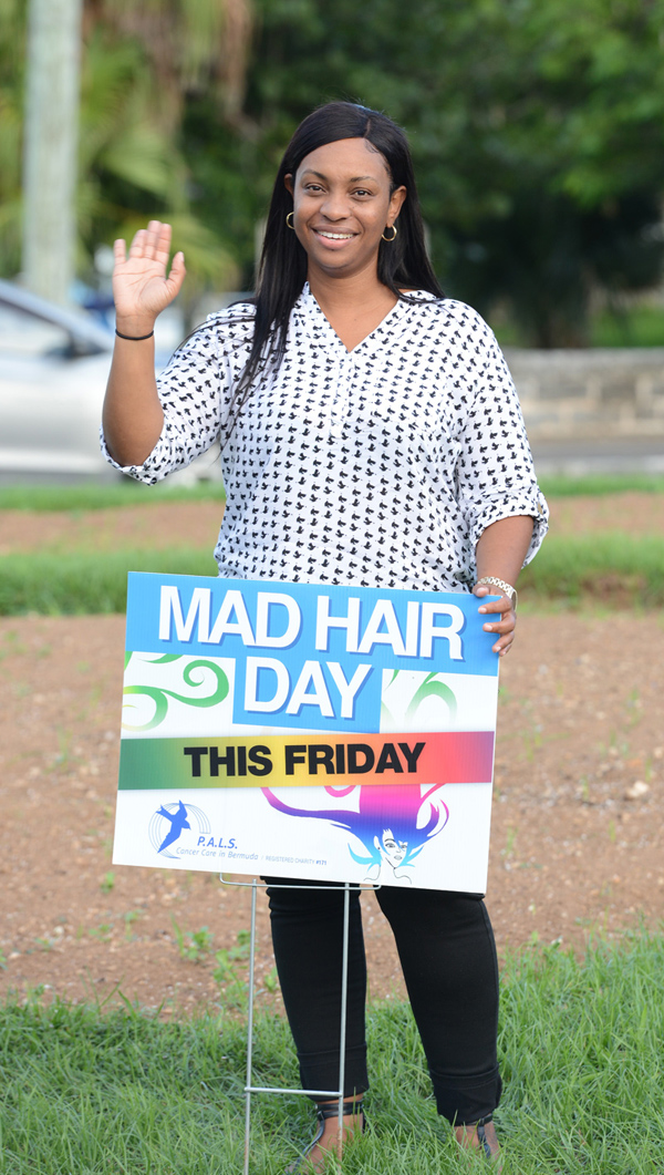 PALS Mad Hair Day Crow Lane Roundabout Bermuda Sept 2018 (5)