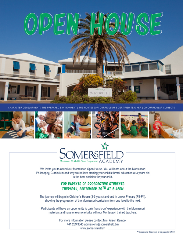 Somersfield Academy Open House Bermuda Sept 2018