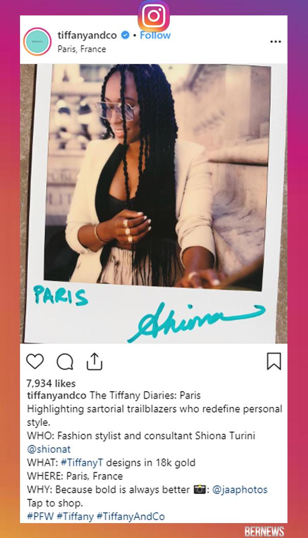Tiffany & Co Instagram Bermuda Sept 27 2018