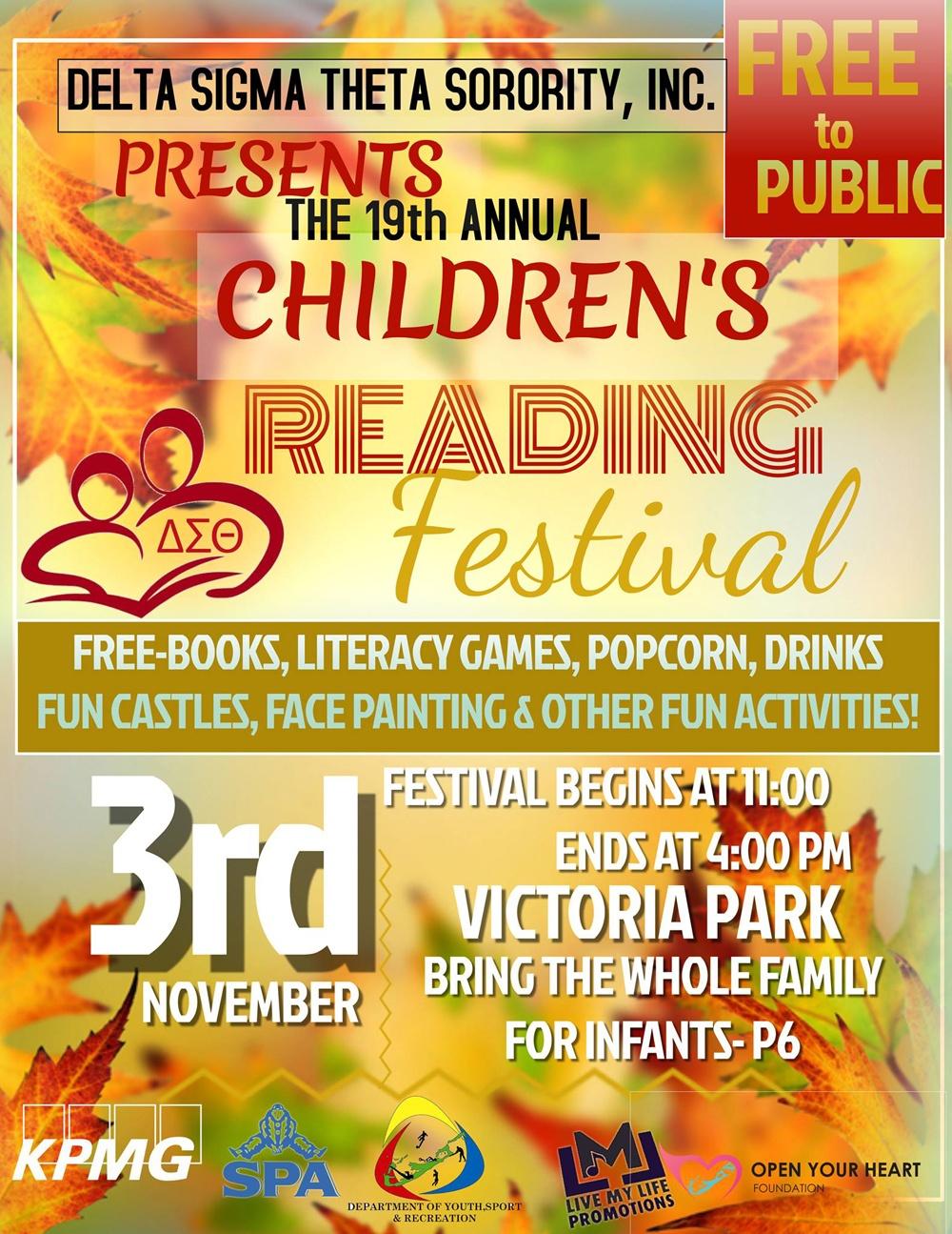 Children's Reading Festival Bermuda Oct 23 2018