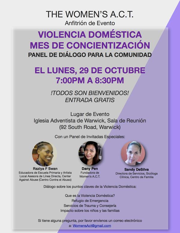 Domestic Violence Awareness Month Bermuda Oct 2018 - Spanish