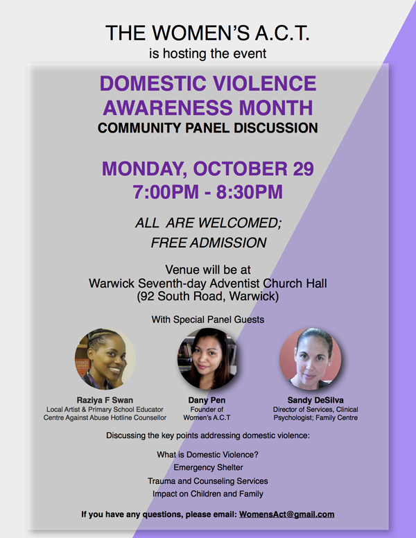 Domestic Violence Awareness Month Bermuda Oct 2018