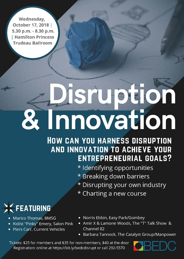 Innovation & Disruption Bermuda October 2018