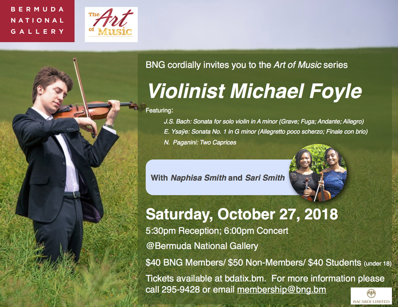 Michael Foyle Art of Music Bermuda Oct 17 2018