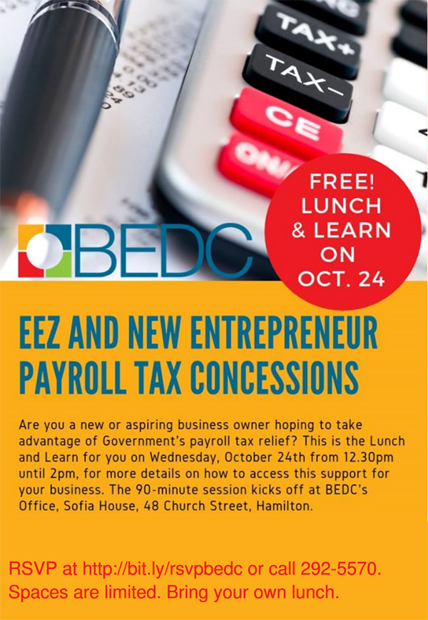 Payroll Tax Lunch and Learn Bermuda Oct 2018