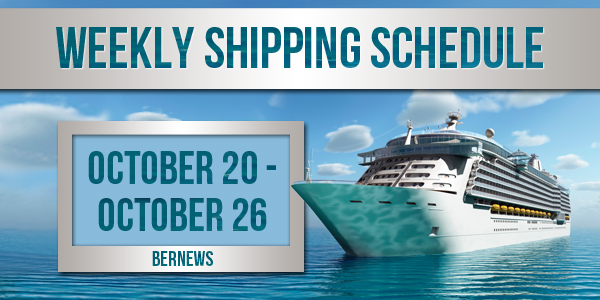 Weekly Shipping Schedule TC Oct 20 - 26 2018