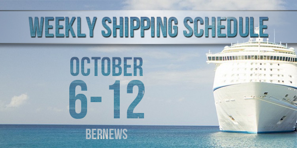 Weekly Shipping Schedule TC October 6 - 12  2018