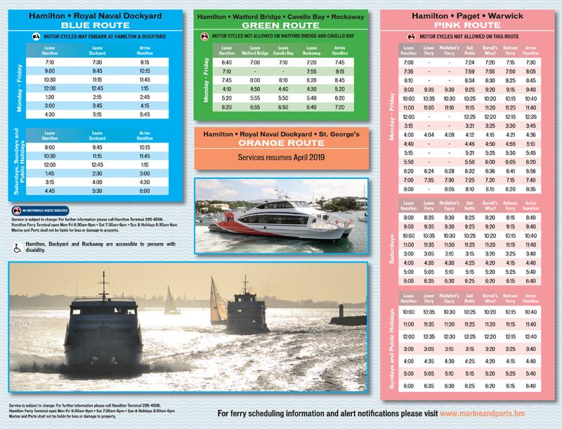 Winter Ferry Schedule Bermuda Oct 2018 (2)