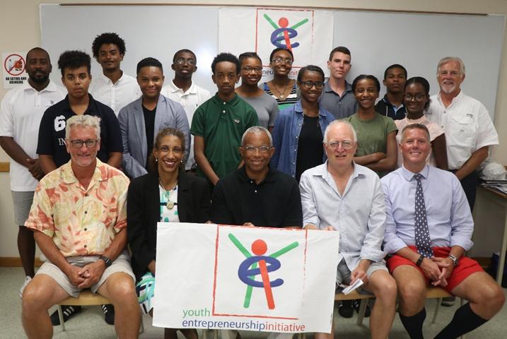 Youth Entrepreneurship Initiative participants and judges Bermuda Oct 12 2018