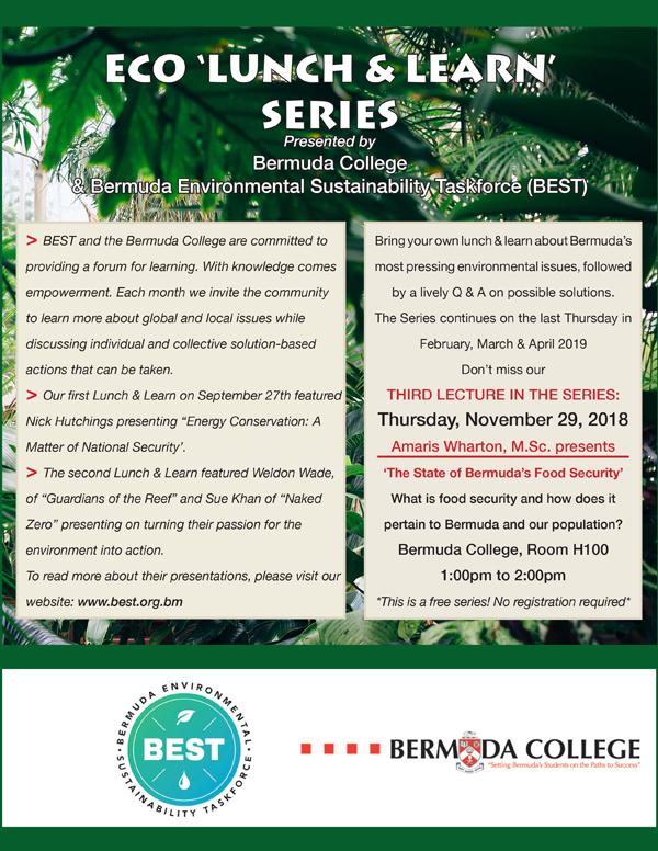 BEST Eco Lunch & Learn Bermuda Nov 2018