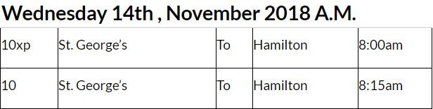 Bus Cancellations AM November 14 2018