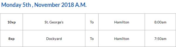 Bus Cancellations AM November 5 2018