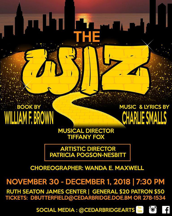 CedarBridge Academy The Wiz Bermuda Nov 2018