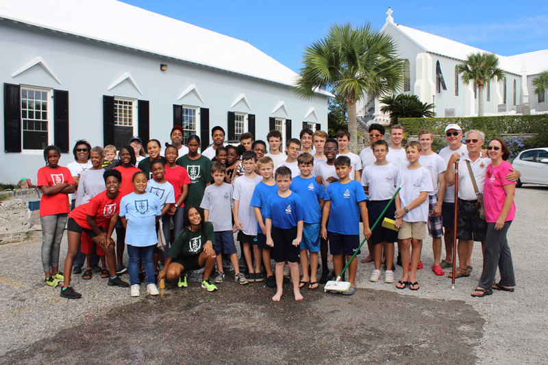 Church Girls & Boys Brigades Car Wash Bermuda Nov 2018 (2)