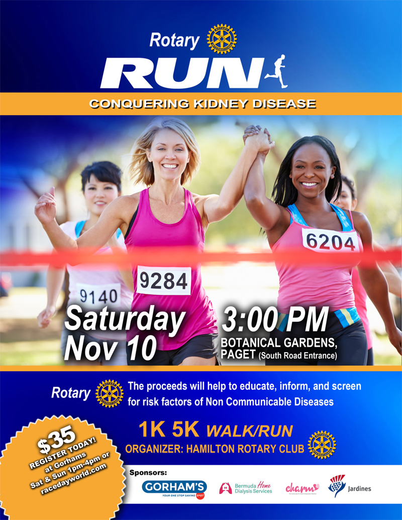 Rotary Run Conquering Kidney Disease Bermuda Nov 7 2018