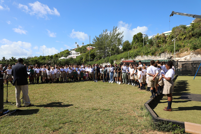Somersfield Academy Ground Breaking Bermuda Oct 2018 (1)