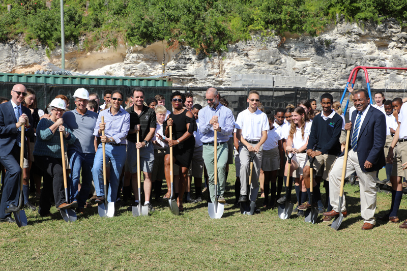 Somersfield Academy Ground Breaking Bermuda Oct 2018 (2)