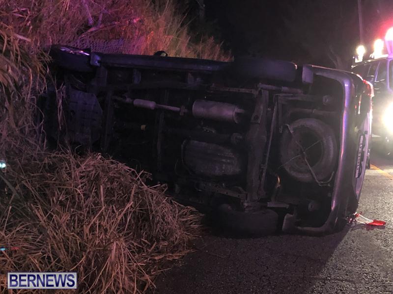 car overturned Bermuda Nov 11 2018 3