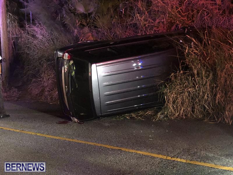 car overturned Bermuda Nov 11 2018