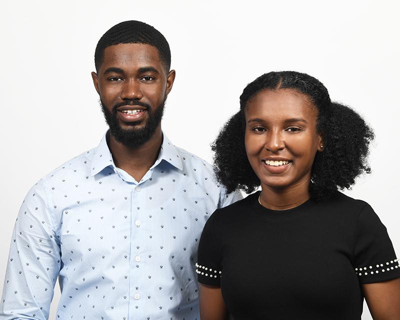 2018 interns Tomisha Goater and Amon Wedderburn Bermuda Dec 20 2018