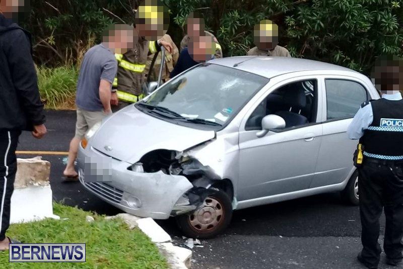 Car Collision Cobbs Hill Road Bermuda, December 22 2018 (2)