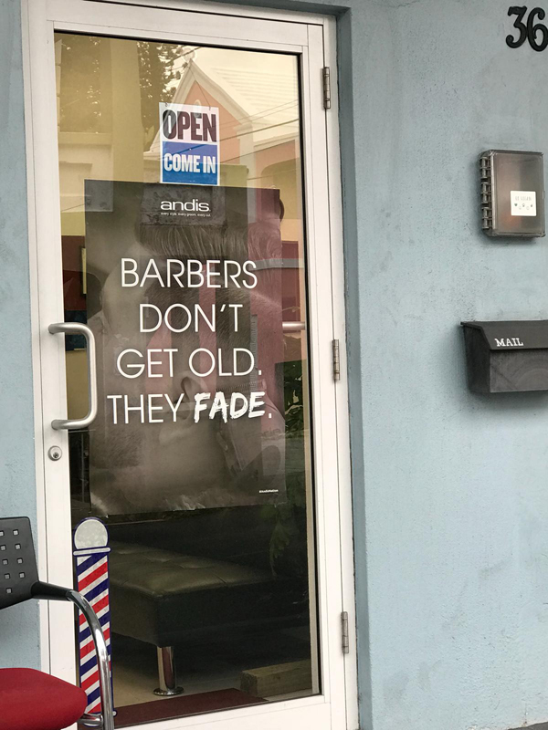 Faderz barber shop Bermuda Dec 2018 (2)