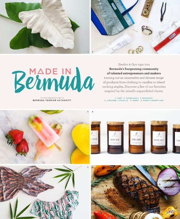 Made in Bermuda Page 1 Garden and Gun magazine