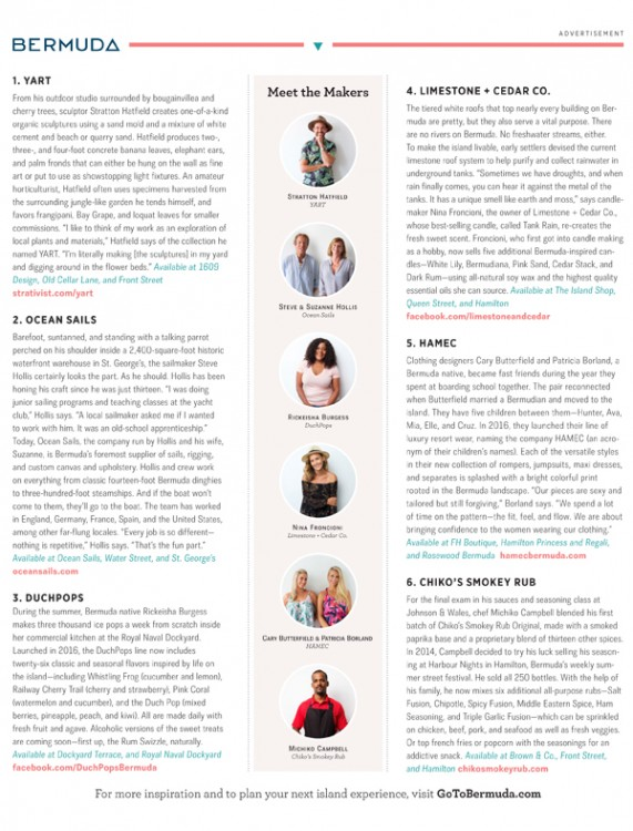 Made in Bermuda Page 2 Garden and Gun magazine