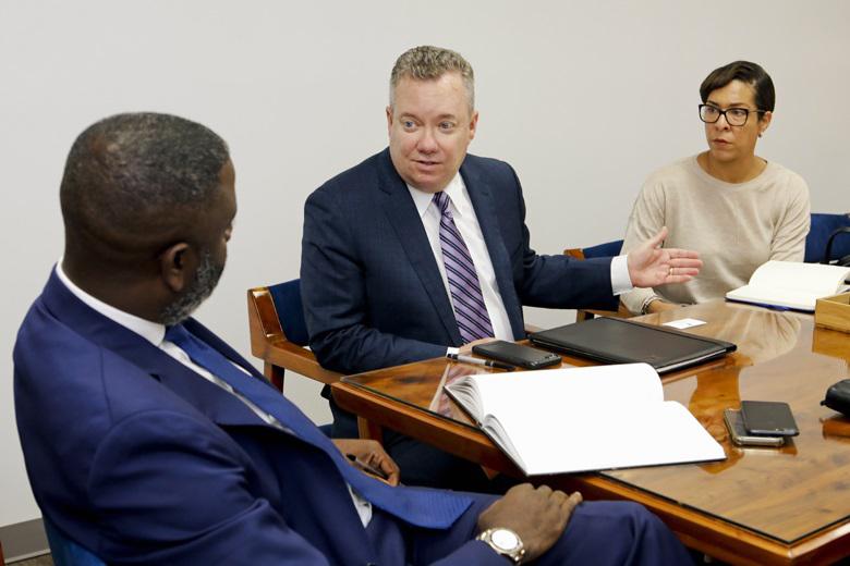 Minister Wayne Caines and ABIR Bermuda Dec 2018