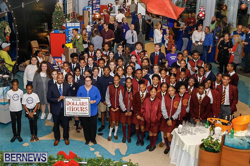 "PartnerRe's ""Dollars for Hours"" Initiative Bermuda Dec 5 2018"