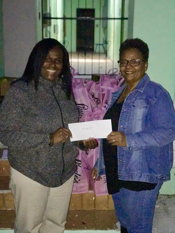 Pastor Veronica and Dr Gina Spence Bermuda Dec 2018
