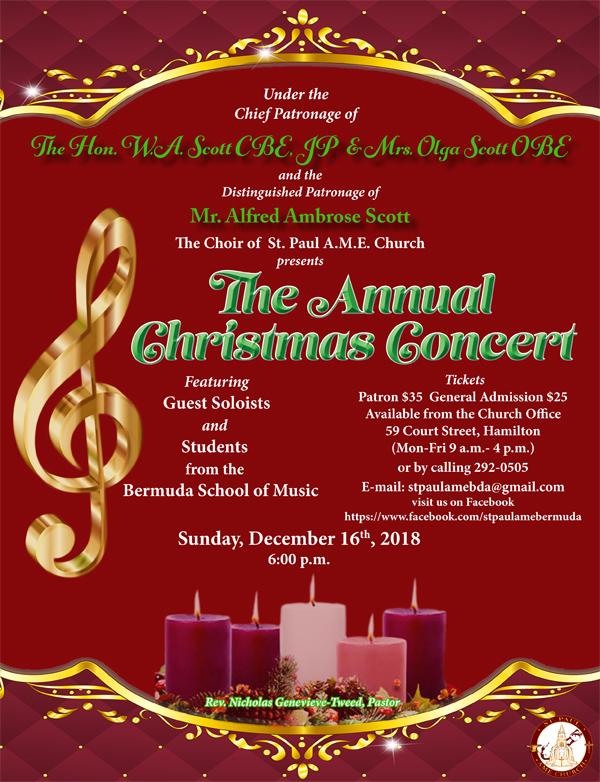St Paul AME Christmas Concert Bermuda Dec 2018