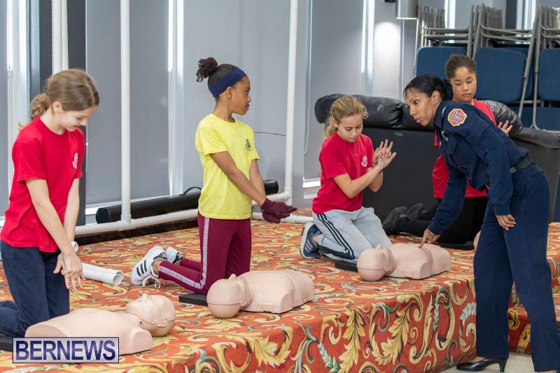 BHS Students Visit Hamilton Fire Station Bermuda, January 31 2019-6313