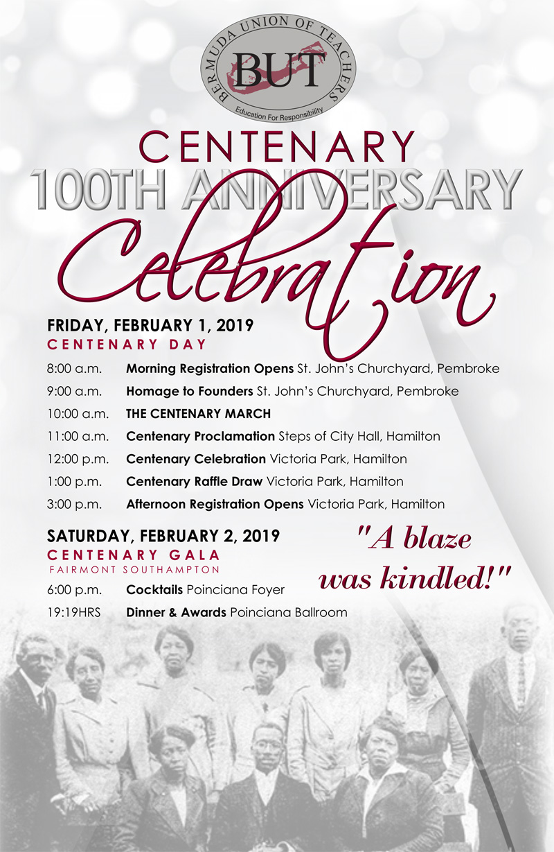 BUT Centenary 100th Anniversary Bermuda Jan 25 2019