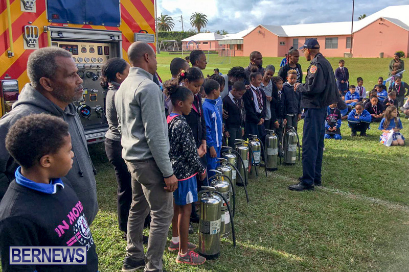 Bermuda Fire and Rescue Service demonstration at Elliot Primary School Careers Day, January 24 2019-53-10
