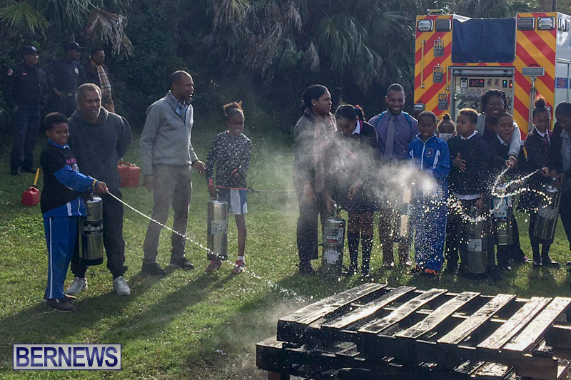 Bermuda Fire and Rescue Service demonstration at Elliot Primary School Careers Day, January 24 2019-53-2