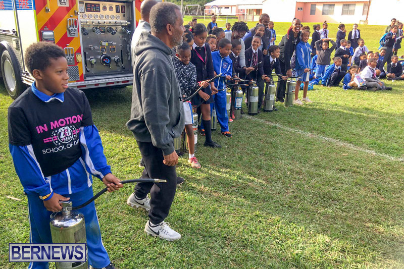 Bermuda Fire and Rescue Service demonstration at Elliot Primary School Careers Day, January 24 2019-53-3
