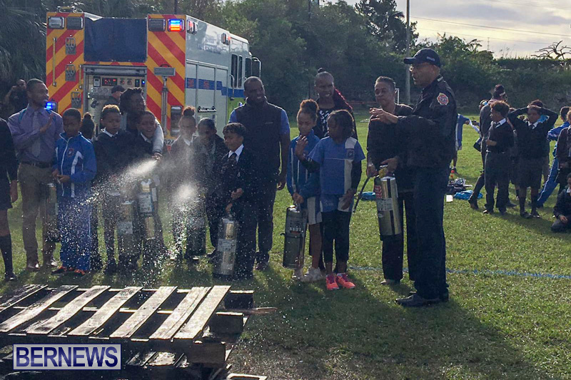Bermuda Fire and Rescue Service demonstration at Elliot Primary School Careers Day, January 24 2019-53-7