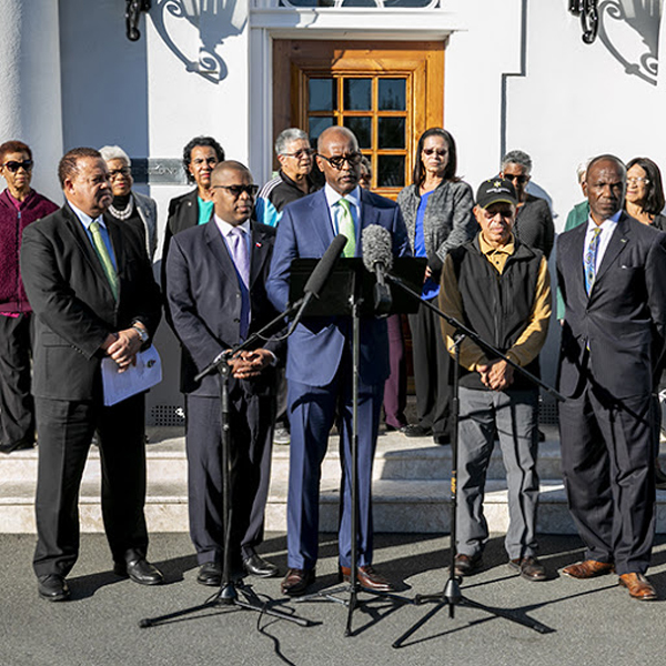 Minister Dickinson joined by his colleagues & seniors Bermuda Jan 17 2019 (2)
