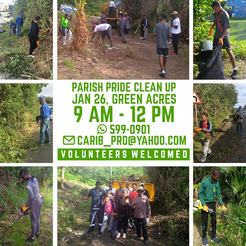 Parish Pride Clean Up Bermuda Jan 2019